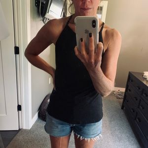 Lucy yoga tank charcoal S